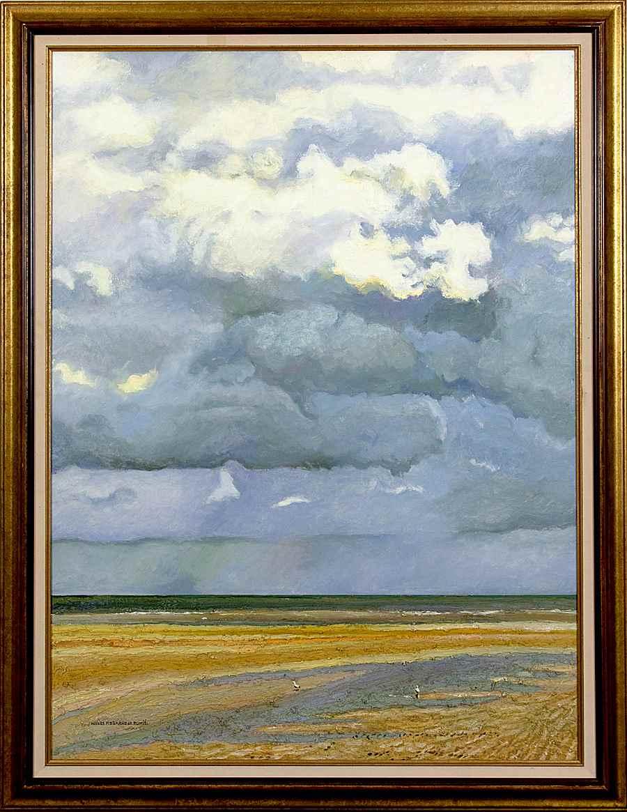Deux Mouettes et les Nuages, Côte Normande - Hugues dit Pomié Pissarro (b. 1935)