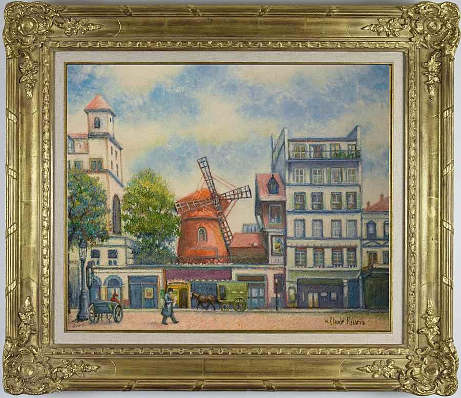 Matin-Tôt au Moulin Rouge (Paris) - H. Claude Pissarro (b. 1935 - )