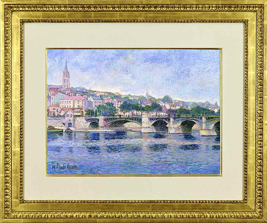 Le Pont de Saint Cloud (Paris) - H. Claude Pissarro (b. 1935 - )