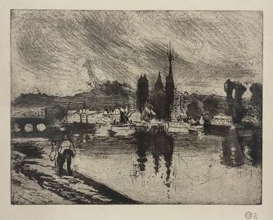Camille Pissarro - Vue de Rouen (Cours la Reine)