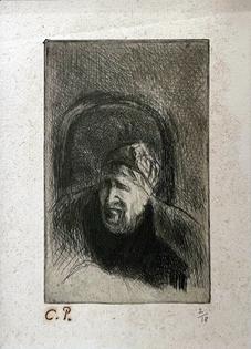 Camille Pissarro - Grand'mère dans son Fauteuil (La Mère de l'Artiste)