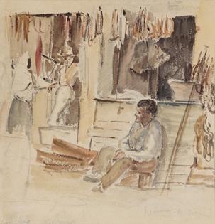 Camille Pissarro - Épiciers