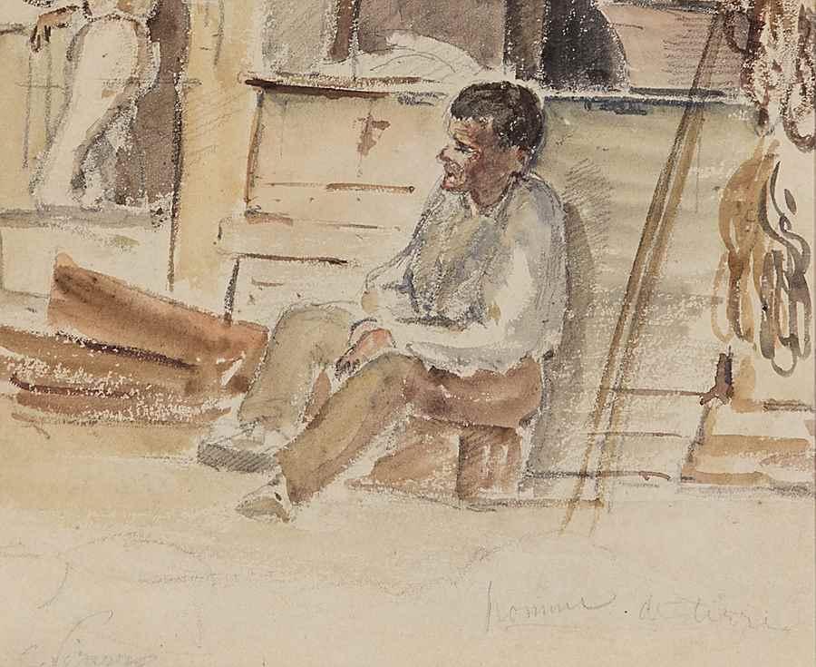 Épiciers - Camille Pissarro (1830 - 1903)