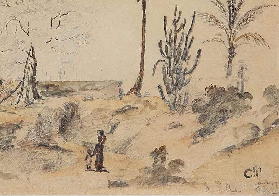 Paysage animé, Venezuela - Camille Pissarro (1830 - 1903)