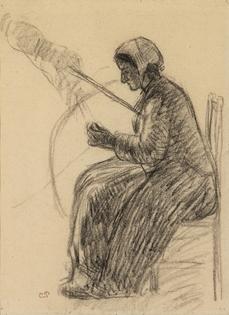 Camille Pissarro - Fileuse
