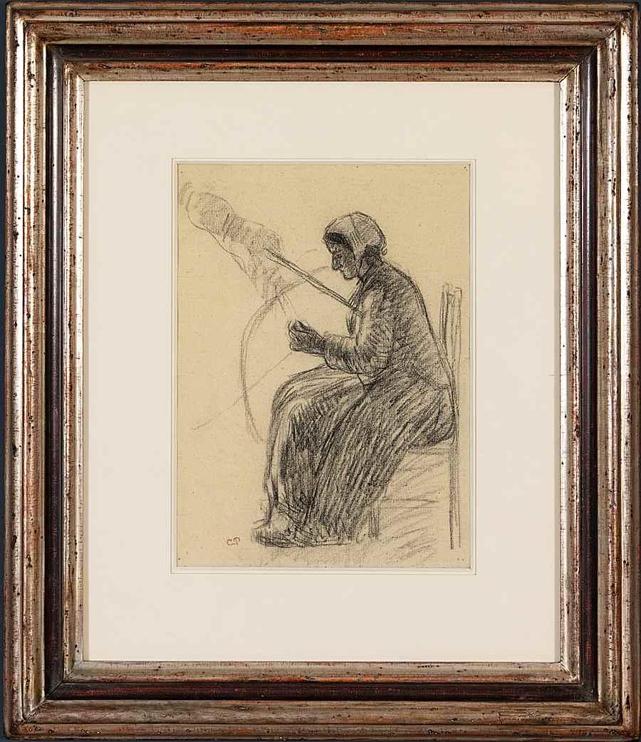 Fileuse - Camille Pissarro (1830 - 1903)