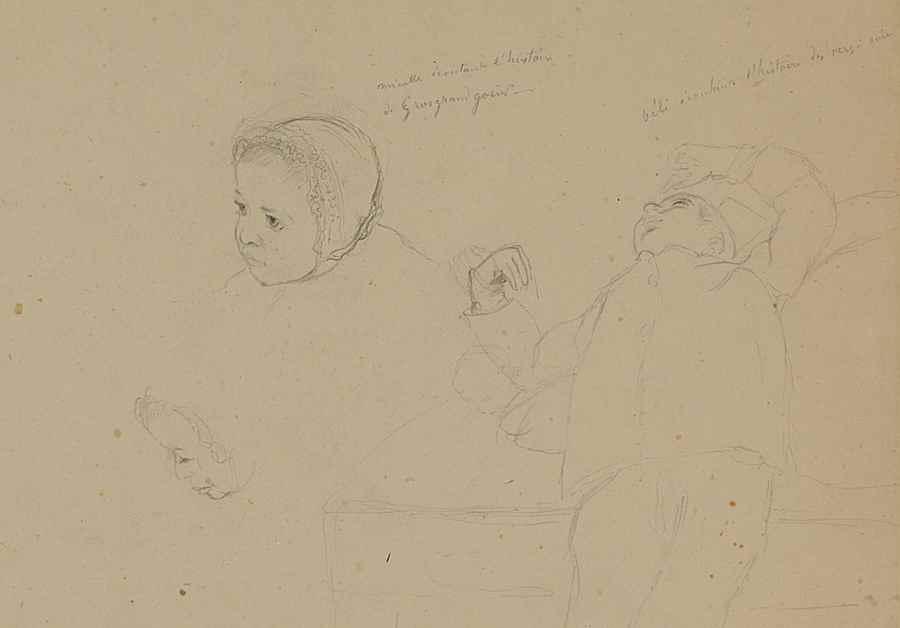 Étude de Minette - Camille Pissarro (1830 - 1903)