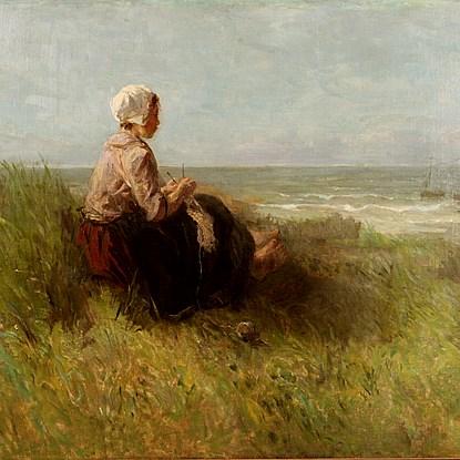 Waiting - Jozef Israëls (1824 - 1911)