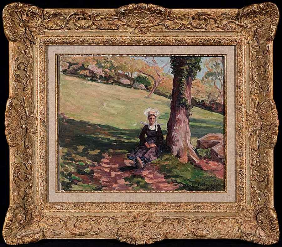 Bretonne sous un Arbre - Ludovic-Rodo Pissarro (1878 - 1952)