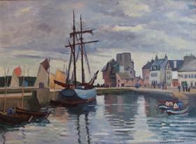 Ludovic-Rodo Pissarro - Concarneau Harbour, Brittany