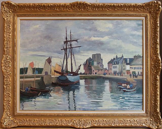Concarneau Harbour, Brittany - Ludovic-Rodo Pissarro (1878 - 1952)