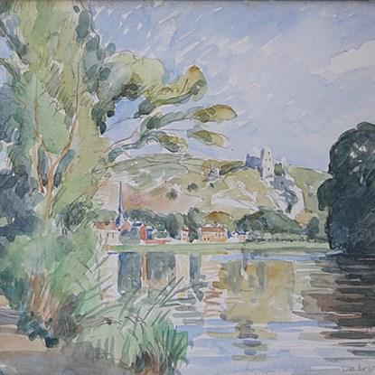 Vue des Andelys (Château Gaillard) - Ludovic-Rodo Pissarro (1878 - 1952)