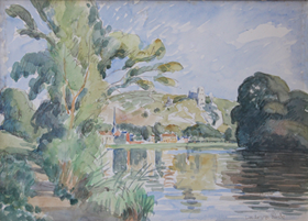 Ludovic-Rodo Pissarro - Vue des Andelys (Château Gaillard)