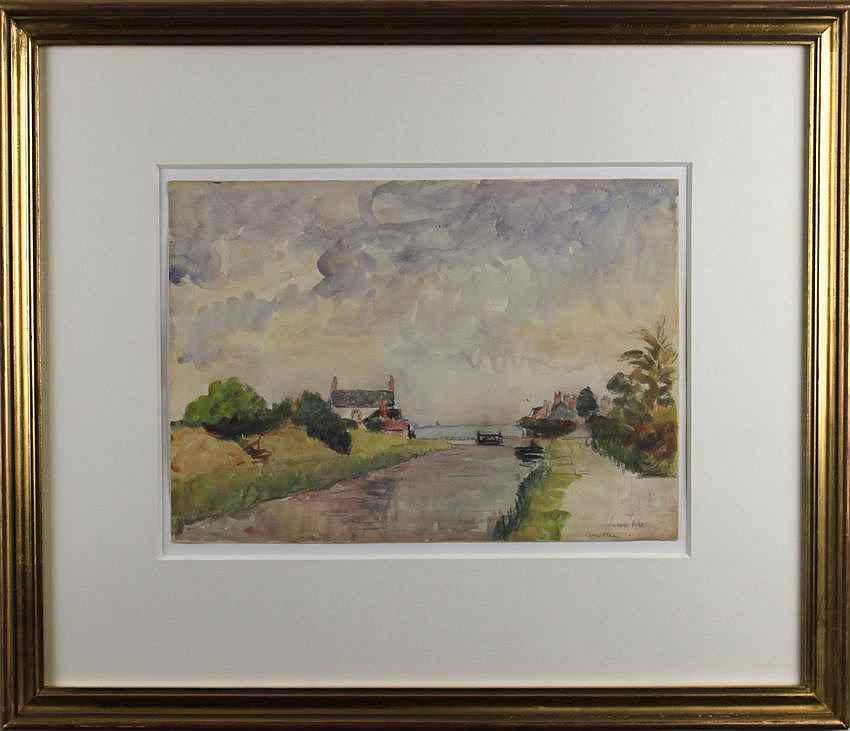 Écluses à Combleu - Ludovic-Rodo Pissarro (1878 - 1952)