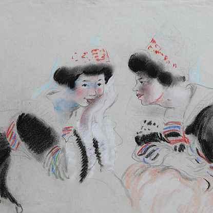 Deux Bretonnes - Georges Manzana Pissarro (1871 - 1961)