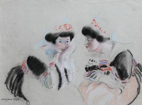 Georges Manzana Pissarro - Deux Bretonnes
