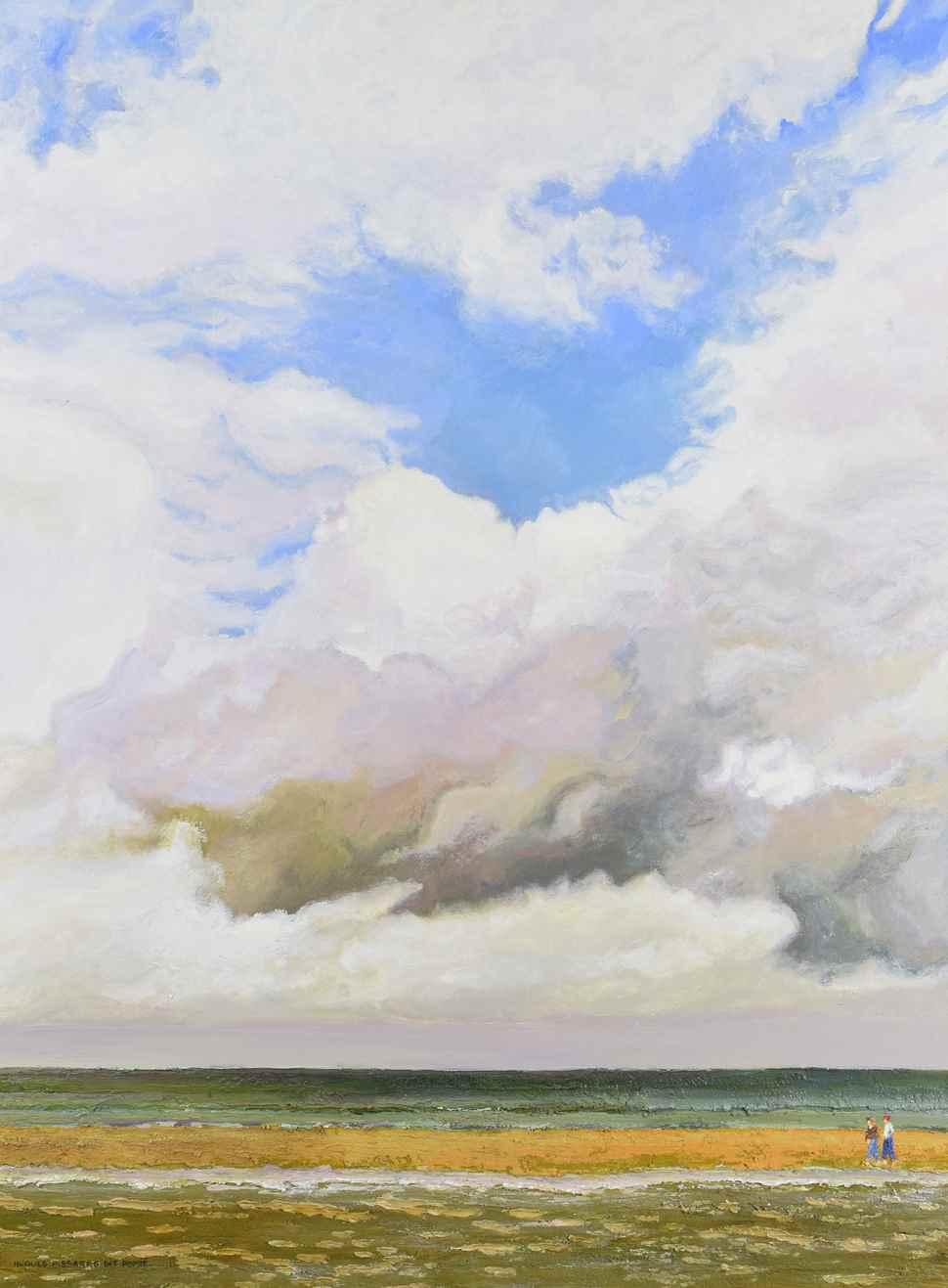 Banc de Sable - Arromanches  - Hugues dit Pomié Pissarro (b. 1935)