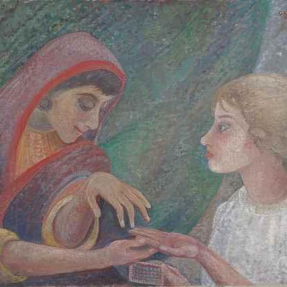 The Fortune Teller - Orovida Pissarro (1893 - 1968)
