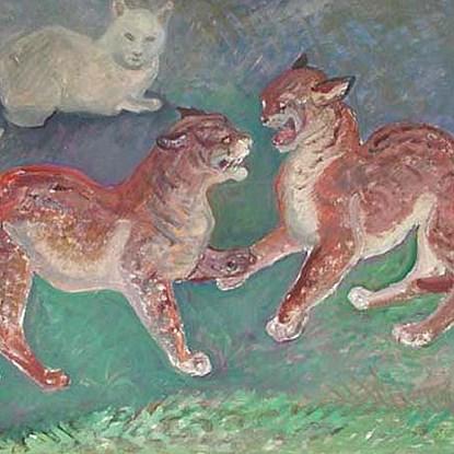 Caterwaul - Orovida Pissarro (1893 - 1968)