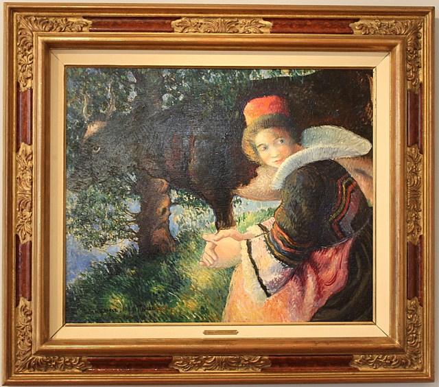 Bretonne à la Vache  - Georges Manzana Pissarro (1871 - 1961)