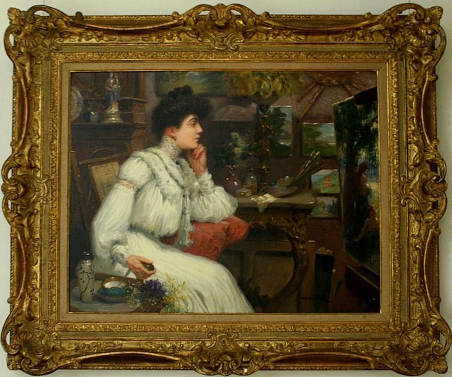 L'Élegante dans l'Atelier - Maurice Chabas (1862-1947)