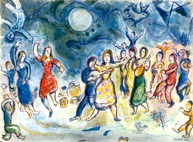 Marc Chagall - Fête au Village