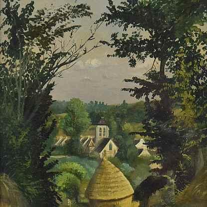 Paysage  - Louis Hayet (1864 - 1940)