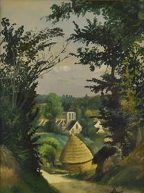 Louis Hayet - Paysage