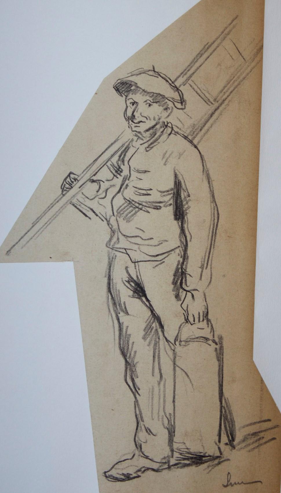 Ouvrier au Travail - Maximilien Luce (1858 - 1941)