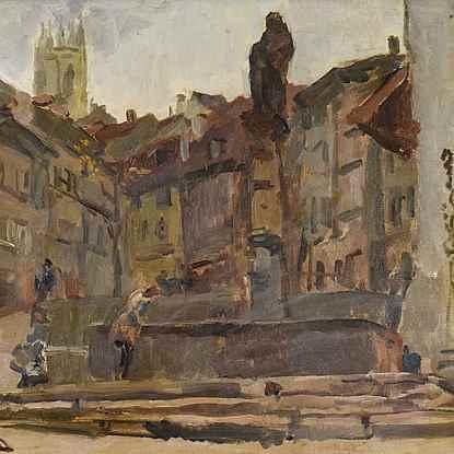 Fontaine St. Anne, Friebourg - Isaac Israëls (1865 - 1934)