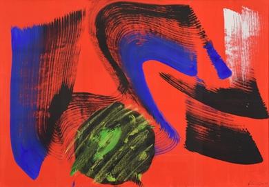 Gérard Schneider - Composition Abstraite