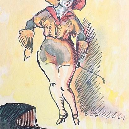 Cabaret Girl - Ludovic-Rodo Pissarro (1878 - 1952)