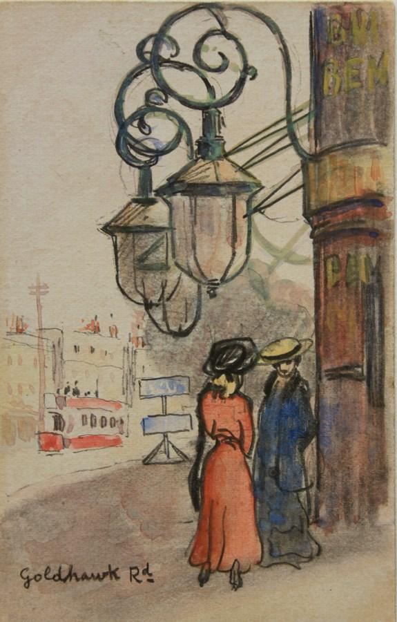 Goldhawk Road - Ludovic-Rodo Pissarro (1878 - 1952)