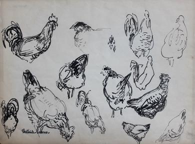 Paulémile Pissarro - Etude de Poules
