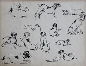 Paulémile Pissarro - Etude de Chiens