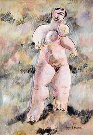 Hugues Pissarro dit Pomié - Nue Debout