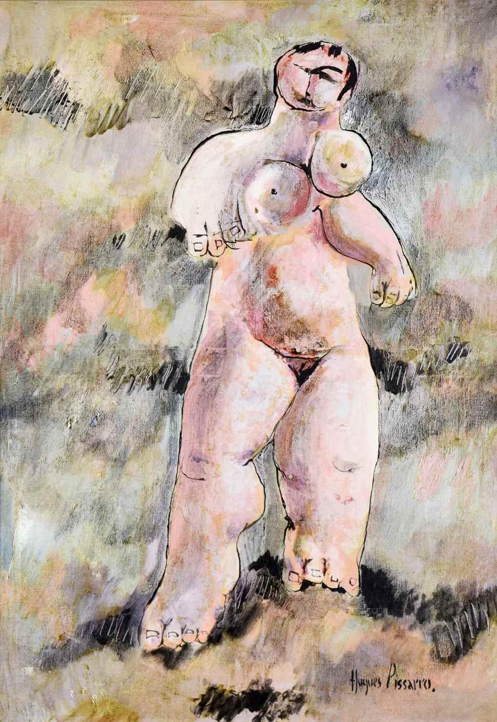 Nue Debout - Hugues dit Pomié Pissarro (b. 1935 - )