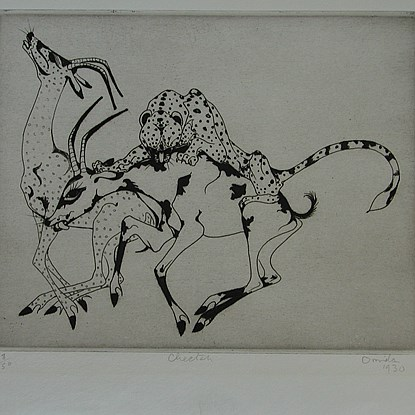 Cheetah - Orovida Pissarro (1893 - 1968)