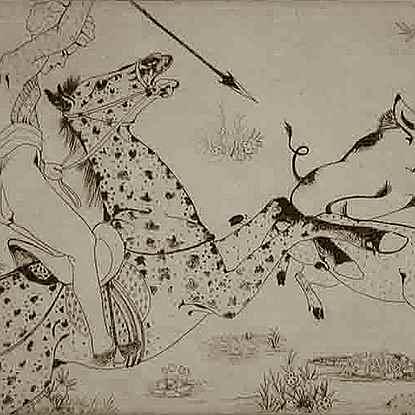 Pig Sticking - Orovida Pissarro (1893 - 1968)