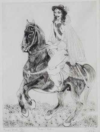 Rupert Rides - Orovida Pissarro (1893 - 1968)