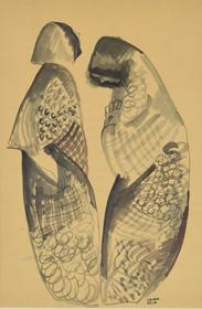 Béla Kádár - Two Figures