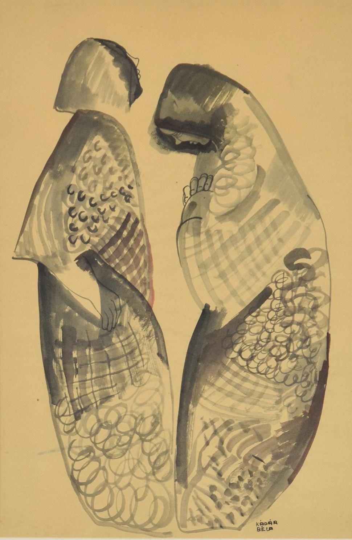 Two Figures - Béla Kádár (1877 - 1956)