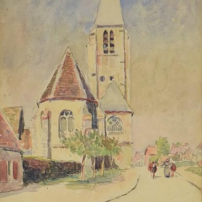 La Celle les Bordes - Ludovic-Rodo Pissarro (1878 - 1952)