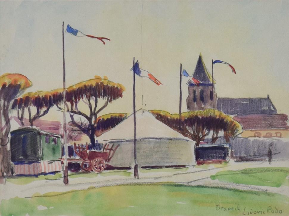 Draveil - Ludovic-Rodo Pissarro (1878 - 1952)