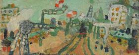 Jean Pougny - Paysage de Paris (La Ligne de Chemin de Fer)