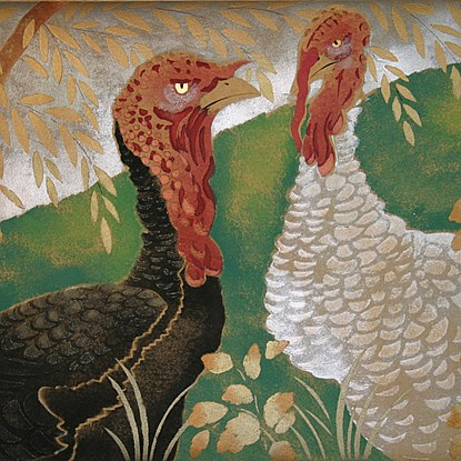 Two Turkeys - Georges Manzana Pissarro (1871 - 1961)