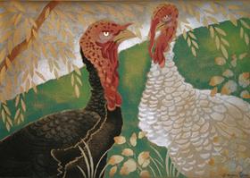 Georges Manzana Pissarro - Two Turkeys
