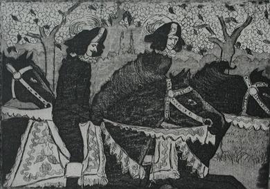 Félix Pissarro - Cavaliers on Horseback