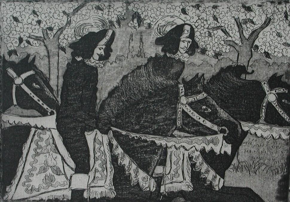 Cavaliers on Horseback - Félix Pissarro (1874 - 1897)