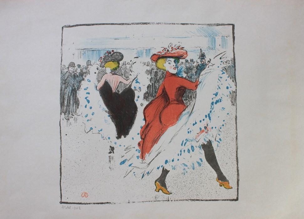 Cancan Dancers - Ludovic-Rodo Pissarro (1878 - 1952)